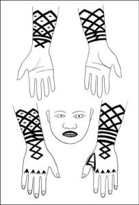 ainu forearm tattoos