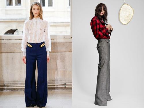 Left-to-right: Bouchra Jarrar Spring 2016 Couture pant; Ronald van der Kamp Spring 2016 Couture pant.