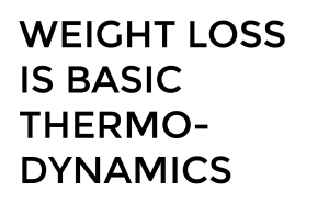 weight loss is basic thermodynamics