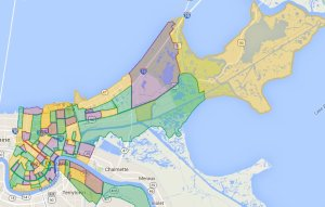 Map of New Orleans by Neighborhood